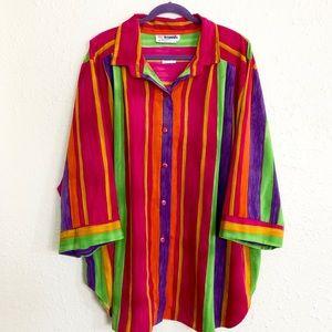 Rainbow striped women size 4x plus size